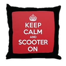 Keep Calm Scooter Throw Pillow