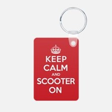 Keep Calm Scooter Keychains