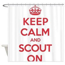 Keep Calm Scout Shower Curtain