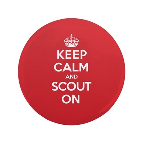 "Keep Calm Scout 3.5"" Button"