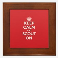 Keep Calm Scout Framed Tile