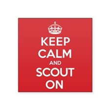 "Keep Calm Scout Square Sticker 3"" x 3"""