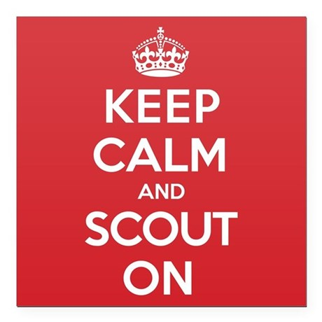 "Keep Calm Scout Square Car Magnet 3"" x 3"""