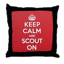 Keep Calm Scout Throw Pillow