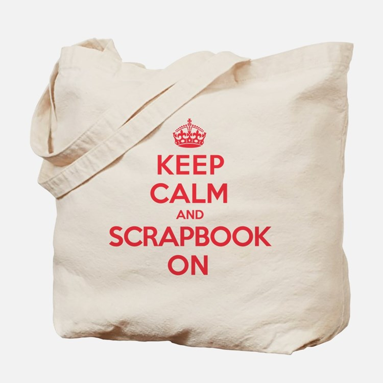 Keep Calm Scrapbook Tote Bag