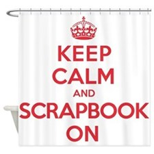 Keep Calm Scrapbook Shower Curtain