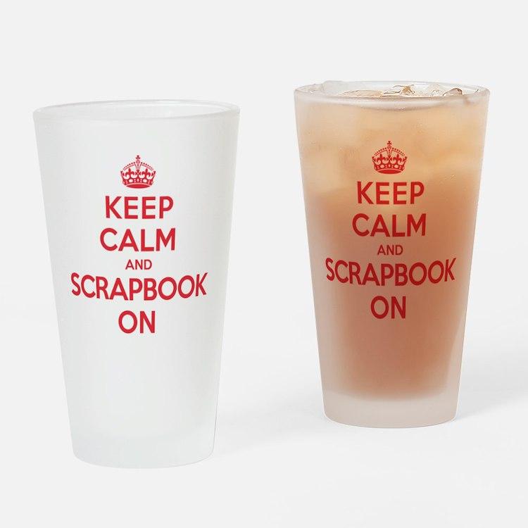 Keep Calm Scrapbook Drinking Glass