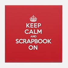 Keep Calm Scrapbook Tile Coaster
