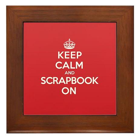 Keep Calm Scrapbook Framed Tile