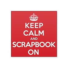 """Keep Calm Scrapbook Square Sticker 3"""" x 3"""""""