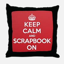 Keep Calm Scrapbook Throw Pillow