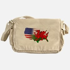 American Welsh Map Messenger Bag