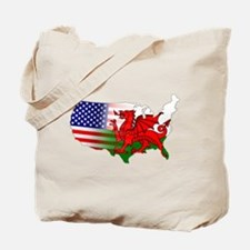 American Welsh Map Tote Bag