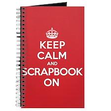 Keep Calm Scrapbook Journal