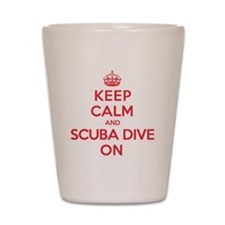 K C Scuba Dive On Shot Glass
