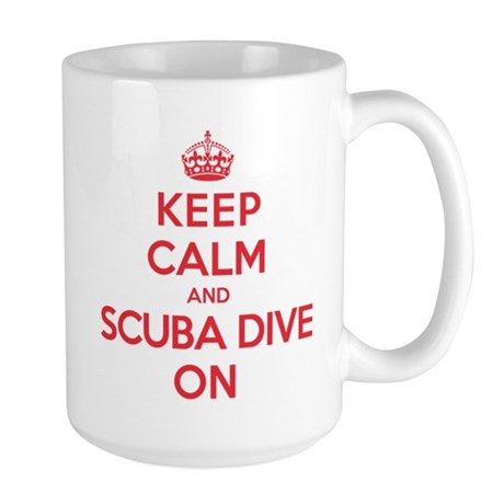 K C Scuba Dive On Large Mug