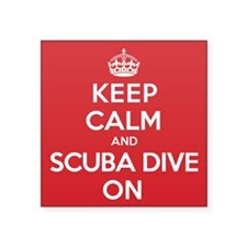 "K C Scuba Dive On Square Sticker 3"" x 3"""