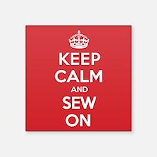 "K C Sew On Square Sticker 3"" x 3"""