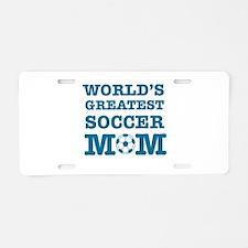 Cool Soccer Mom designs Aluminum License Plate