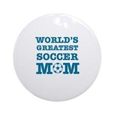 Cool Soccer Mom designs Ornament (Round)