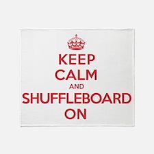 K C Shuffleboard On Throw Blanket