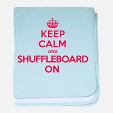 K C Shuffleboard On baby blanket