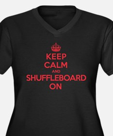 K C Shuffleboard On Women's Plus Size V-Neck Dark