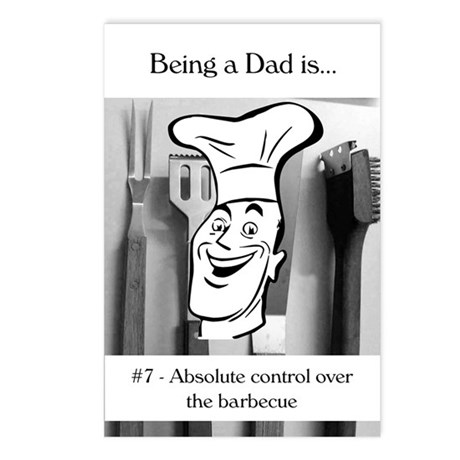 Barbecue Dad Postcards (Package of 8)