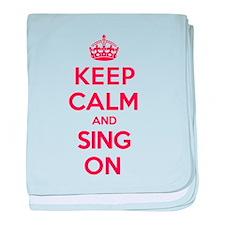 K C Sing On baby blanket