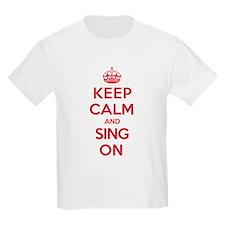 K C Sing On T-Shirt