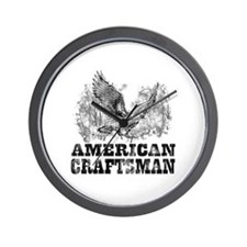American Craftsman Distressed Wall Clock