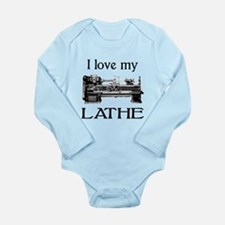 I Love My Lathe Long Sleeve Infant Bodysuit