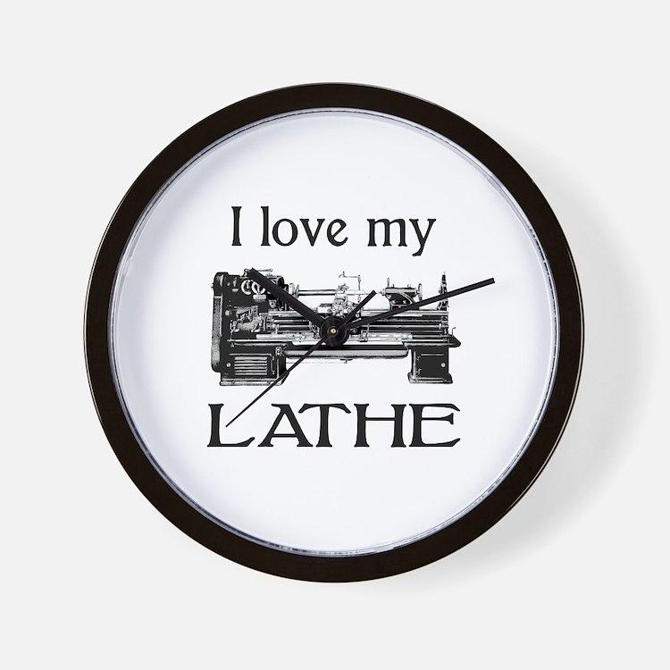 I Love My Lathe Wall Clock