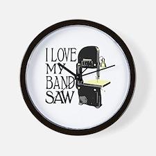 I Love My Bandsaw Wall Clock
