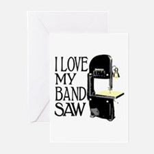 I Love My Bandsaw Greeting Cards (Pk of 20)
