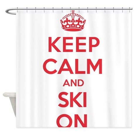 K C Ski On Shower Curtain