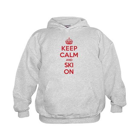 K C Ski On Kids Hoodie