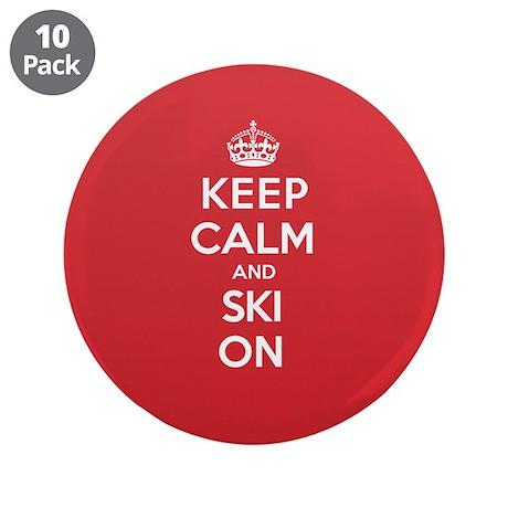"K C Ski On 3.5"" Button (10 pack)"