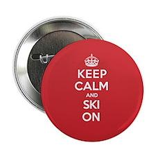 """K C Ski On 2.25"""" Button"""