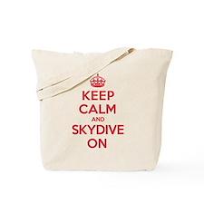 K C Skydive On Tote Bag