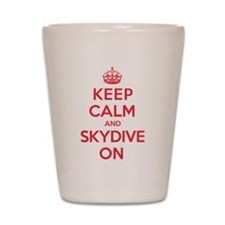K C Skydive On Shot Glass