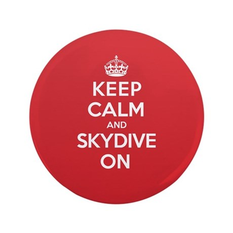"K C Skydive On 3.5"" Button"