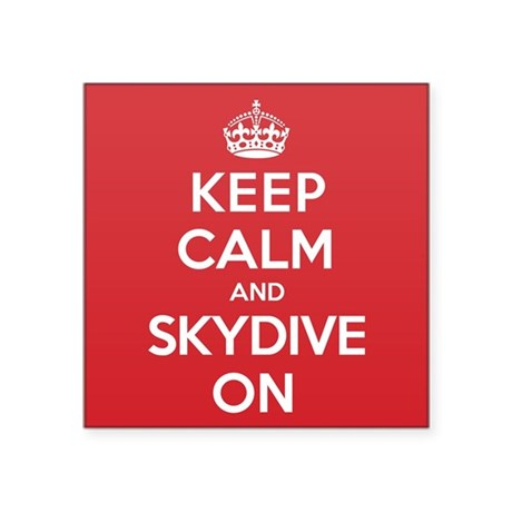 "K C Skydive On Square Sticker 3"" x 3"""