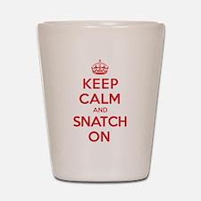 K C Snatch On Shot Glass