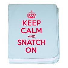K C Snatch On baby blanket