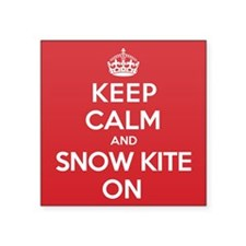 "K C SnowKite On Square Sticker 3"" x 3"""
