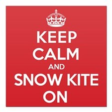 "K C SnowKite On Square Car Magnet 3"" x 3"""