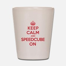 K C Speedcube On Shot Glass