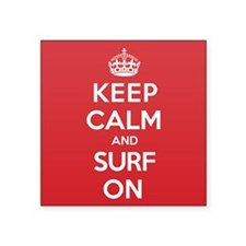 "K C Surf On Square Sticker 3"" x 3"""