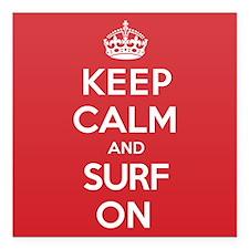 """K C Surf On Square Car Magnet 3"""" x 3"""""""